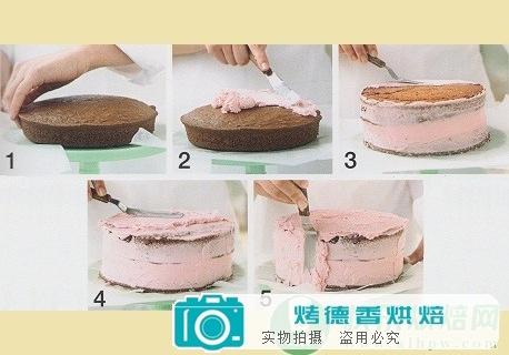 夹心蛋糕涂霜