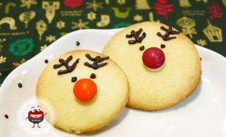 圣诞节烘焙食谱系列-无辜脸麋鹿造型饼干