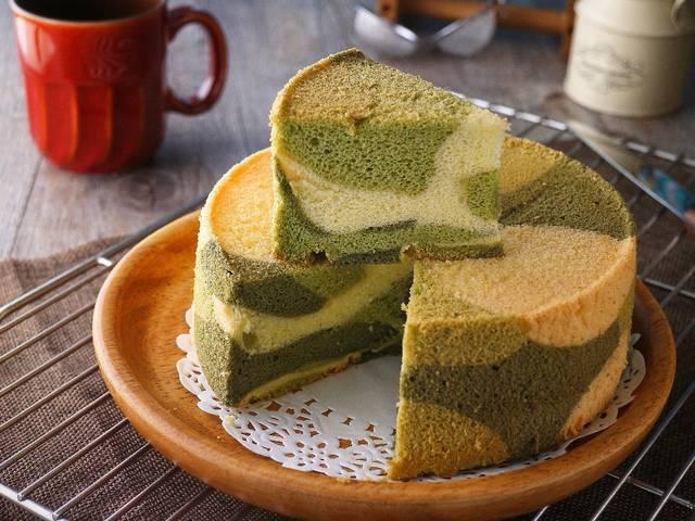 烘焙食谱:战斗部队?迷彩版戚风蛋糕你吃过吗?