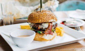 美式早餐~big逼格汉堡~烘焙鲜嫩多汁!