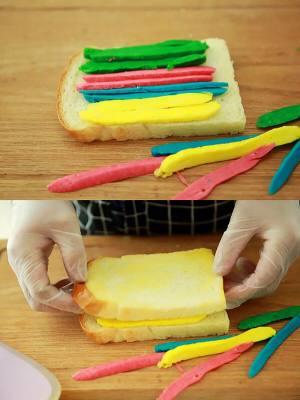 """遇上彩虹,吃定""""彩虹""""——彩虹吐司的做法 步骤16"""