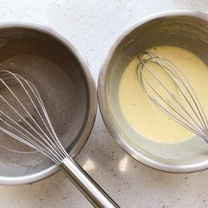 黑米粉大理石蒸蛋糕(超详尽)的做法 步骤7