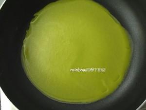 菠菜毛巾卷一春之网红的做法 步骤6