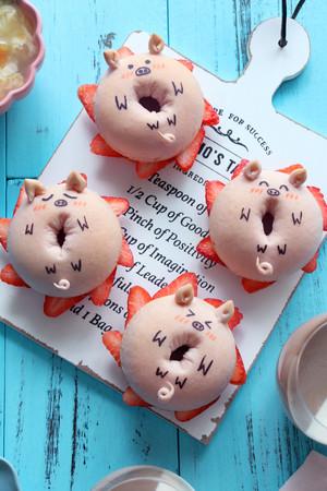 小猪面包圈的做法 步骤13