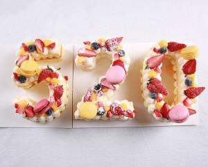 数字蛋糕(戚风版)的做法 步骤14