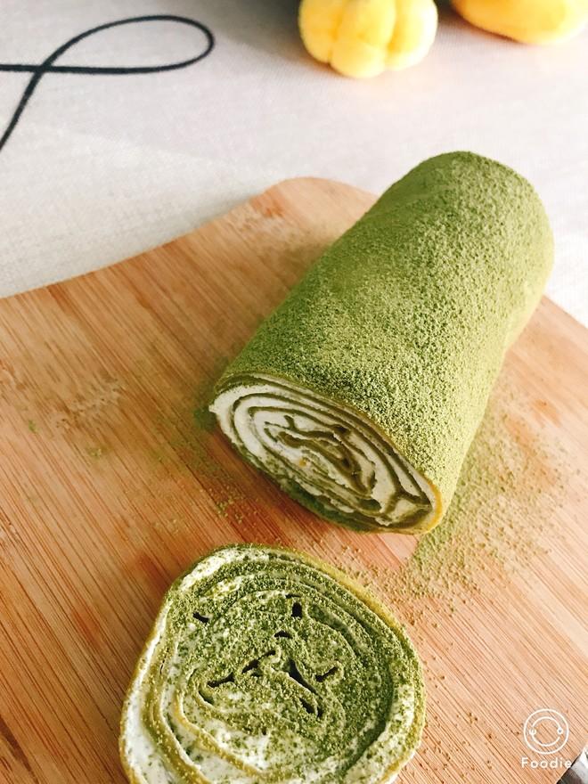 抹茶毛巾卷-薄饼铛版的做法