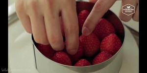 (cooking tree)草莓芝士蛋糕的做法 步骤9