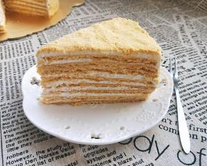 俄罗斯提拉米苏蜂蜜千层蛋糕(原味)的做法 步骤19