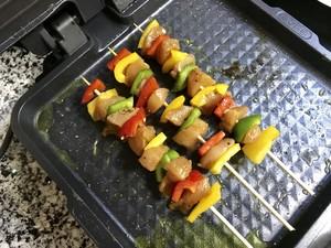 彩椒鸡肉串的做法 步骤11