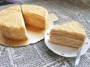 俄罗斯提拉米苏蜂蜜千层蛋糕(原味)的做法 步骤16