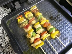 彩椒鸡肉串的做法 步骤12