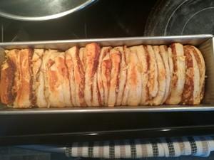 苹果肉桂手撕面包的做法 步骤9