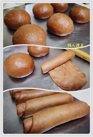 《懒人厨房》可可豆吐司的做法 步骤4