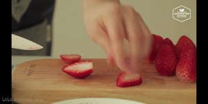 (cooking tree)草莓芝士蛋糕的做法 步骤21