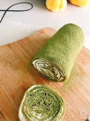 抹茶毛巾卷-薄饼铛版的做法 步骤2