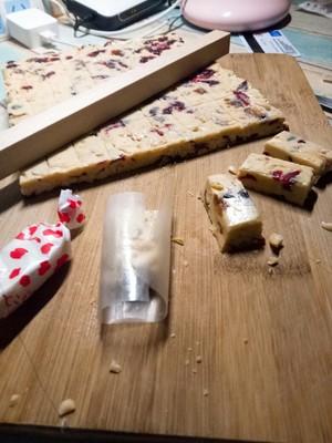 蔓越莓花生牛轧糖的做法 步骤5