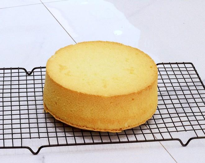 原味8寸戚风蛋糕的做法