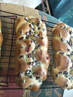 抹茶蜜豆蔓越莓面包的做法 步骤12