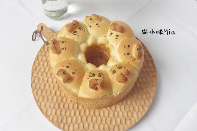 小狗挤挤面包的做法