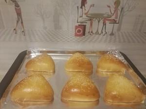 三角奶黄包的做法 步骤10