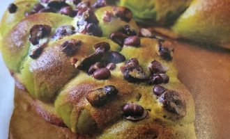 抹茶蜜豆蔓越莓面包  制作方法