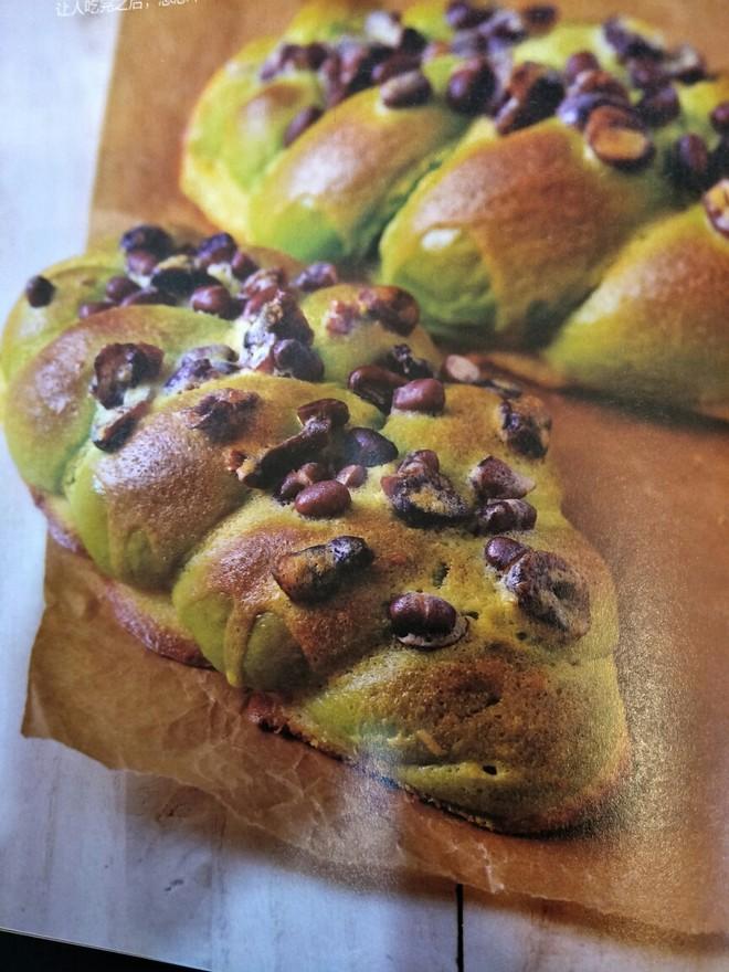 抹茶蜜豆蔓越莓面包的做法
