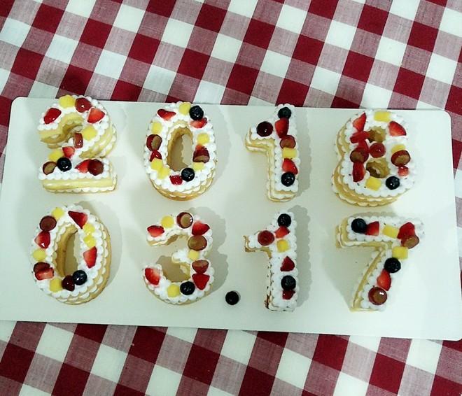数字水果蛋糕的做法