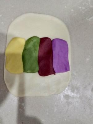 彩色螺纹酥的做法 步骤3