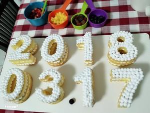 数字水果蛋糕的做法 步骤14