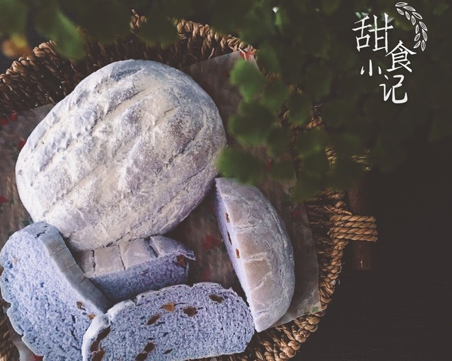 蓝色乡村面包的做法