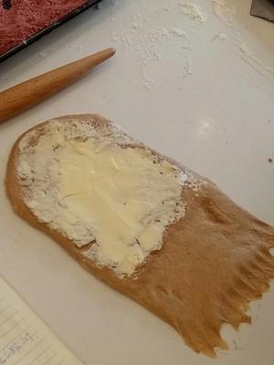 杏仁黑麦面提子面包的做法 步骤6