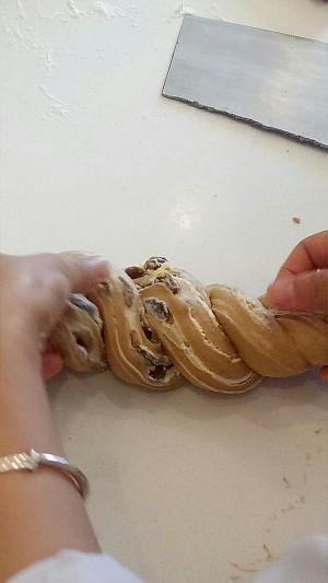 杏仁黑麦面提子面包的做法 步骤9