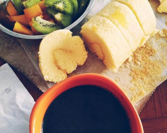 早餐原味蛋糕卷的做法