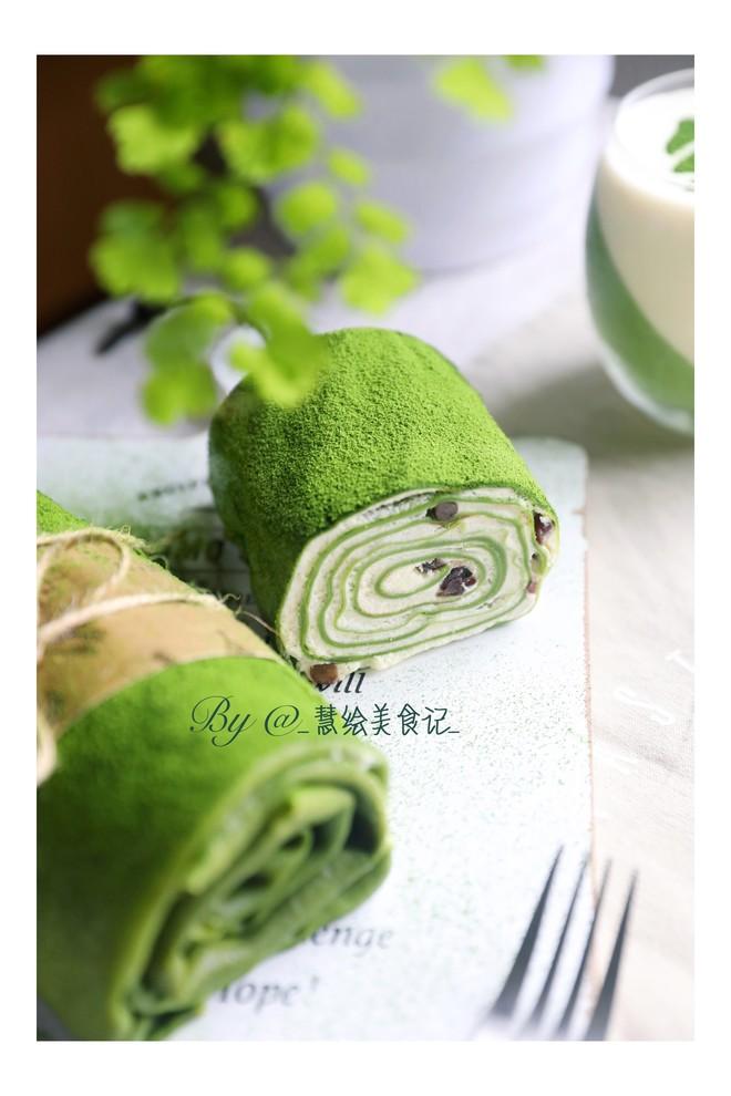 抹茶红豆毛巾卷的做法