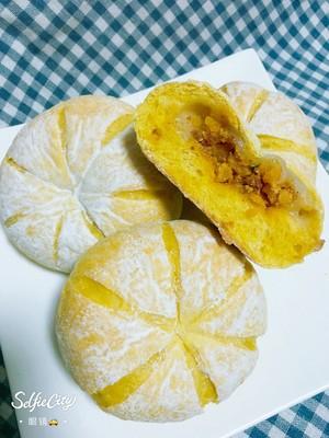 南瓜🎃咸蛋黄肉松麻薯软欧包🍞的做法 步骤14