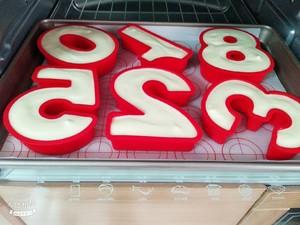数字水果蛋糕的做法 步骤7