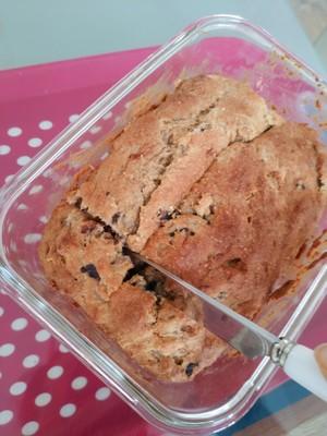懒人的美味~香蕉蓝莓爆浆蛋糕的做法 步骤5