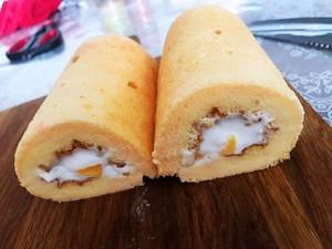 芒果牛乳蛋糕卷的做法 步骤3