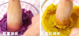 三色千层糕  宝宝辅食食谱的做法 步骤9