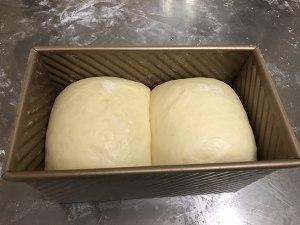 天然酵母北海道吐司记录冷藏发酵的做法 步骤9