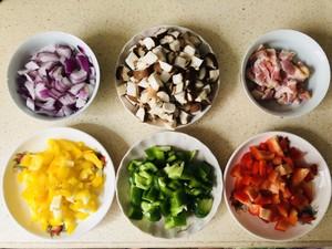 蔬菜培根鸡蛋杯的做法 步骤1