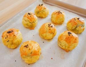 【懒人版】超详细快手蛋黄酥的做法 步骤15