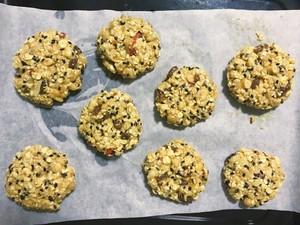 黑芝麻燕麦小饼干(无油无糖)的做法 步骤2