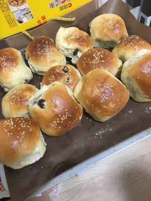 玉米油中种蜂蜜小面包的做法 步骤3