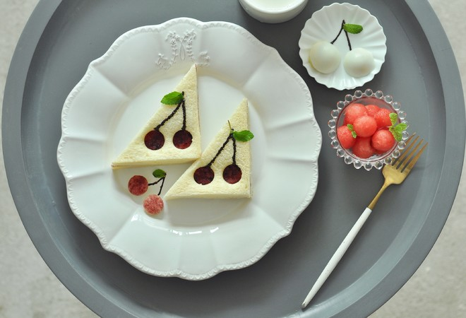 樱桃 吐司的做法