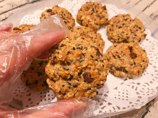 黑芝麻燕麦小饼干(无油无糖)的做法