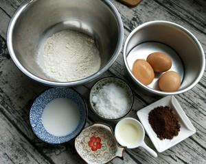 蒸蛋糕(可可味)的做法 步骤1