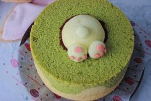兔子雪纺蛋糕~UKOEO 高比克风炉食谱的做法 步骤20