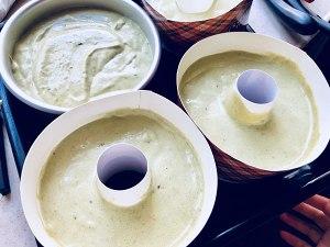 抹茶红豆戚风蛋糕的做法 步骤7