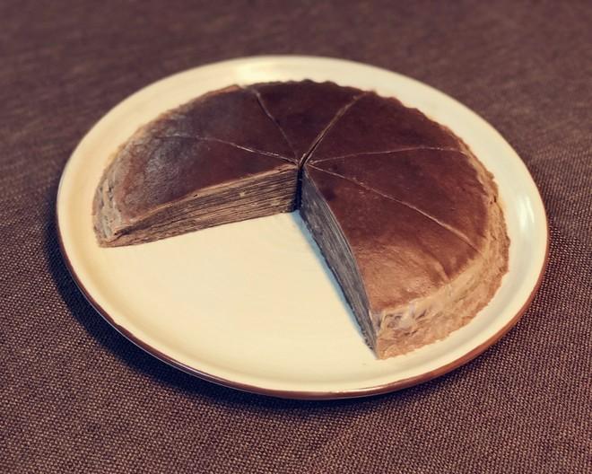 8寸巧克力千层蛋糕的做法